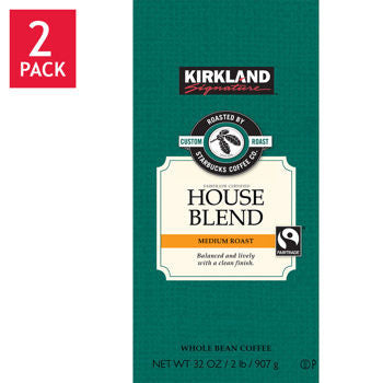 Kirkland Signature��� Roasted by Starbucks House Blend Whole Bean Coffee 2/32oz