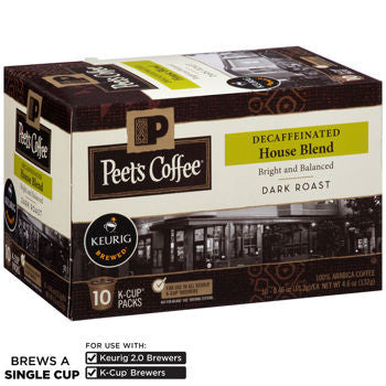Peet's Coffee House Blend Decaf 120 K-Cup Pods