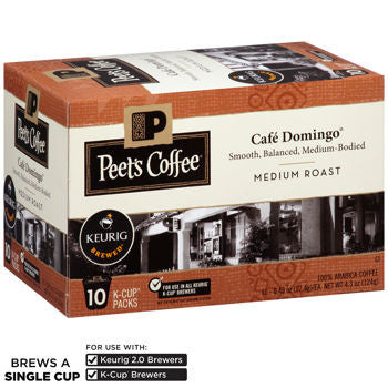 Peet's Coffee Cafe Domingo 120 K-Cup Pods