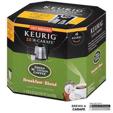 Green Mountain Coffee Breakfast Blend, K-Carafe Packs for Keurig 2.0 Brewers (24 ct.)