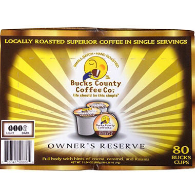 Bucks County Coffee Owner's Reserve Single Cup (80 ct.)