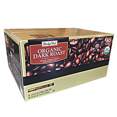 Daily Chef Organic Dark Roast, Single Serve (80 ct.)