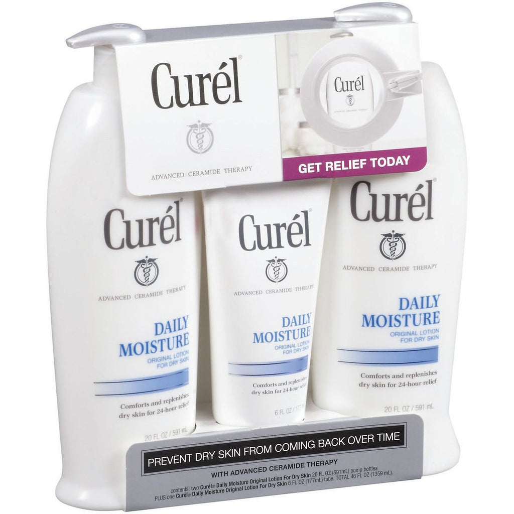 Curel Lotion - 2 x 20 fl. oz. Bottle + 1 x 6 fl. oz. Bottle
