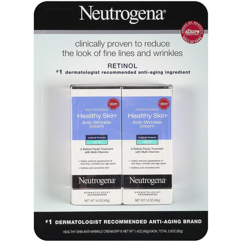 Neutrogena Healthy Skin SPF15 Anti-Wrinkle Cream - 1.4 oz. - 2 Pack