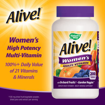 Alive! Women's Multi-Vitamin, 200 Tablets