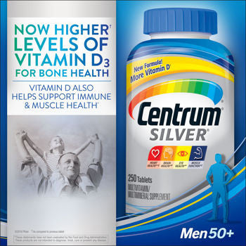 Centrum Silver Men 50+, 250 Tablets