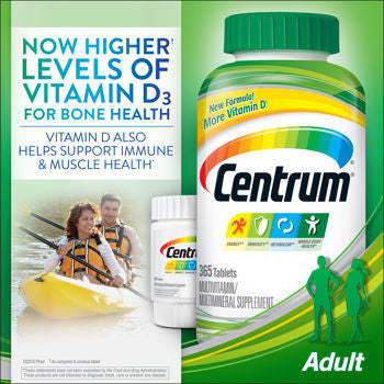 Centrum Adults Under 50, 425 Tablets