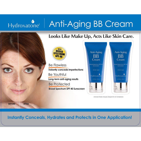 Hydroxatone Anti-Aging BB Cream -1.5 fl oz. (2 pack.)