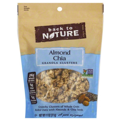 Back to Nature Granola, Clusters, Almond Chia 11 oz.