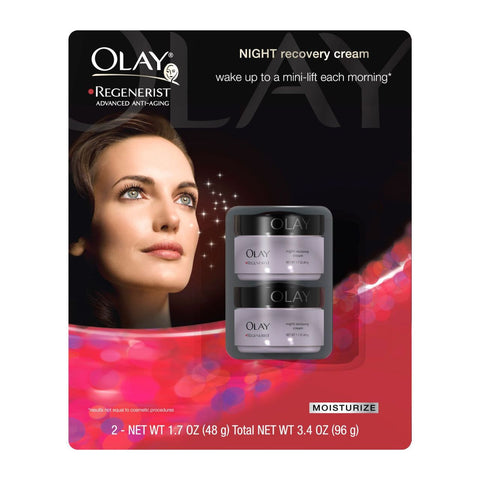 Olay Regenerist Night Recovery Cream - 1.7 oz. - 2 pack.