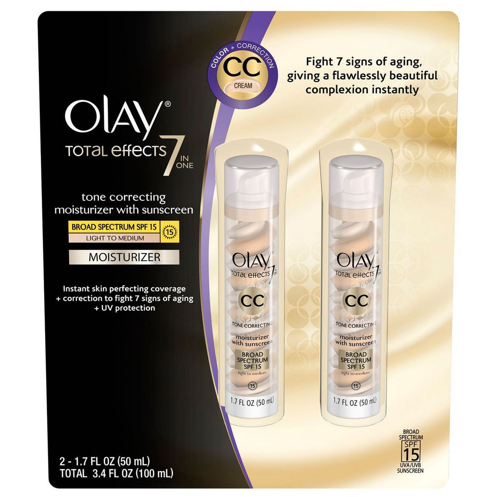 Olay Total Effects 7-in-1 Moisturizer - 1.7 fl.oz. - 2 Pack