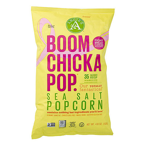 Angies Boom Chicka Pop Popcorn, Sea Salt 4.8 oz.