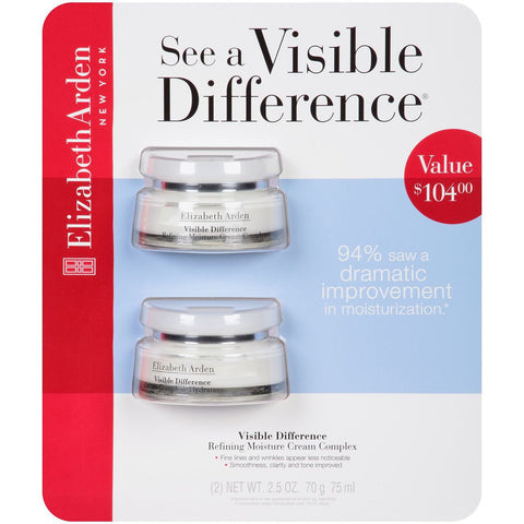 Elizabeth Arden Visible Difference Refining Moisture Cream Complex - 2.5 oz. - 2 Pack