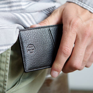 Slim Minimalist Leather Wallets For Men