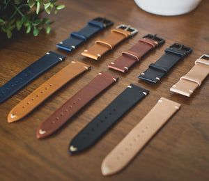 Leather Apple Watch Band Flat