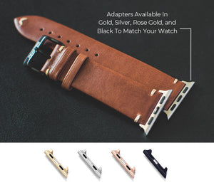 Leather Apple Watch Strap Band Adapter Colors
