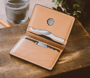 Inside Men's Leather Bifold Walet - Veg Tanned Wallet