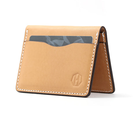 Raw Vegetable Tanned Bifold Wallet