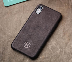Leather iPhone Slim Case / Black