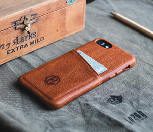 Brown Leather iPhone 6/6S Plus Wallet Card Case