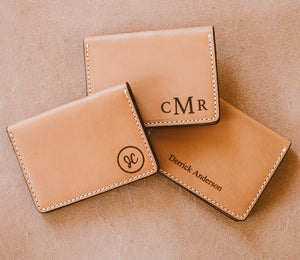 Monogram Leather Wallet - Custom