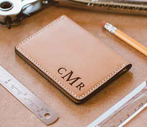 Personalized Leather Wallet Bifold - Mens