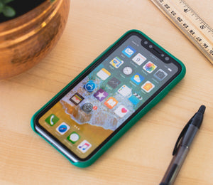 Green Leather iPhone X Cases