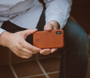 Brown Leather iPhone Slim Case
