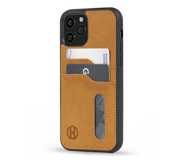 Brown Leather iPhone 12 Wallet Case