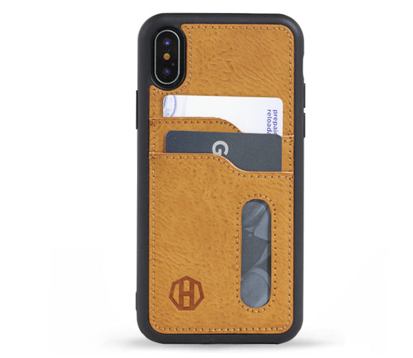 Brown Leather iPhone XR Wallet Case