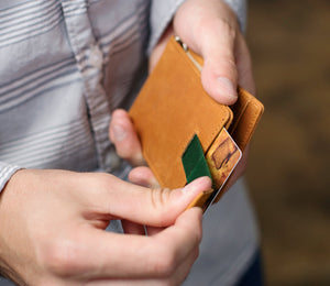 Leather Bifold Wallet With Money Clip - RFID Slim Wallets