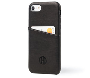 Leather iPhone Wallet Case / Black