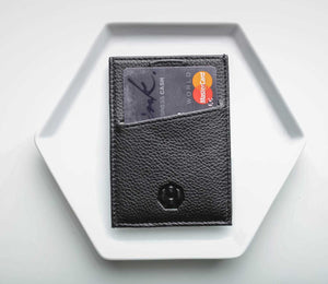 Haxford Slim Black Men's Leather RFID Wallet
