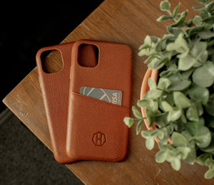 Slim Brown Leather iPhone 11 Phone Case