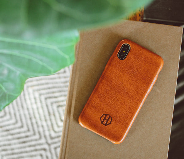 watch 6e686 ddc52 Brown Leather iPhone Slim Case