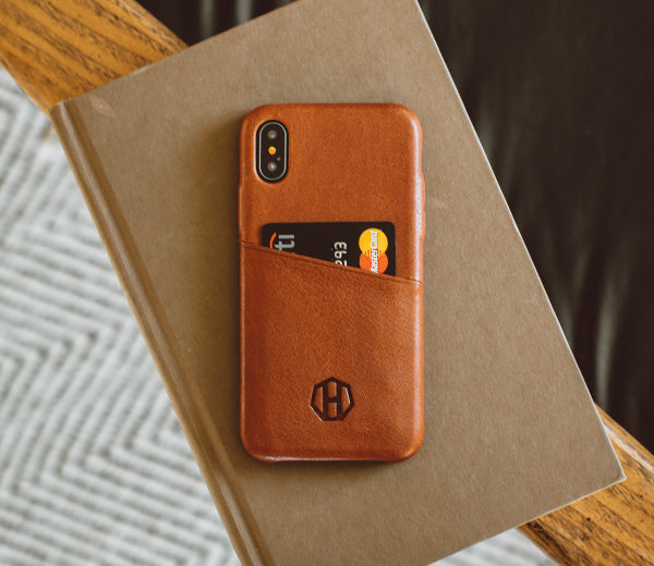 new styles 639bc cbda8 Leather iPhone Wallet Case / Brown