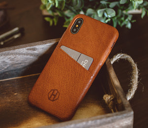 Leather iPhone Wallet Case / Brown