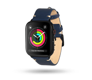 Leather Apple Watch Band Navy