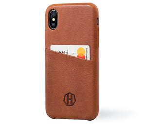 Luxury Leather iPhone X Card Wallet Case
