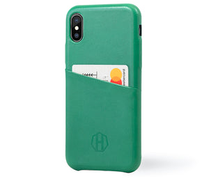 Green Leather iPhone X Case