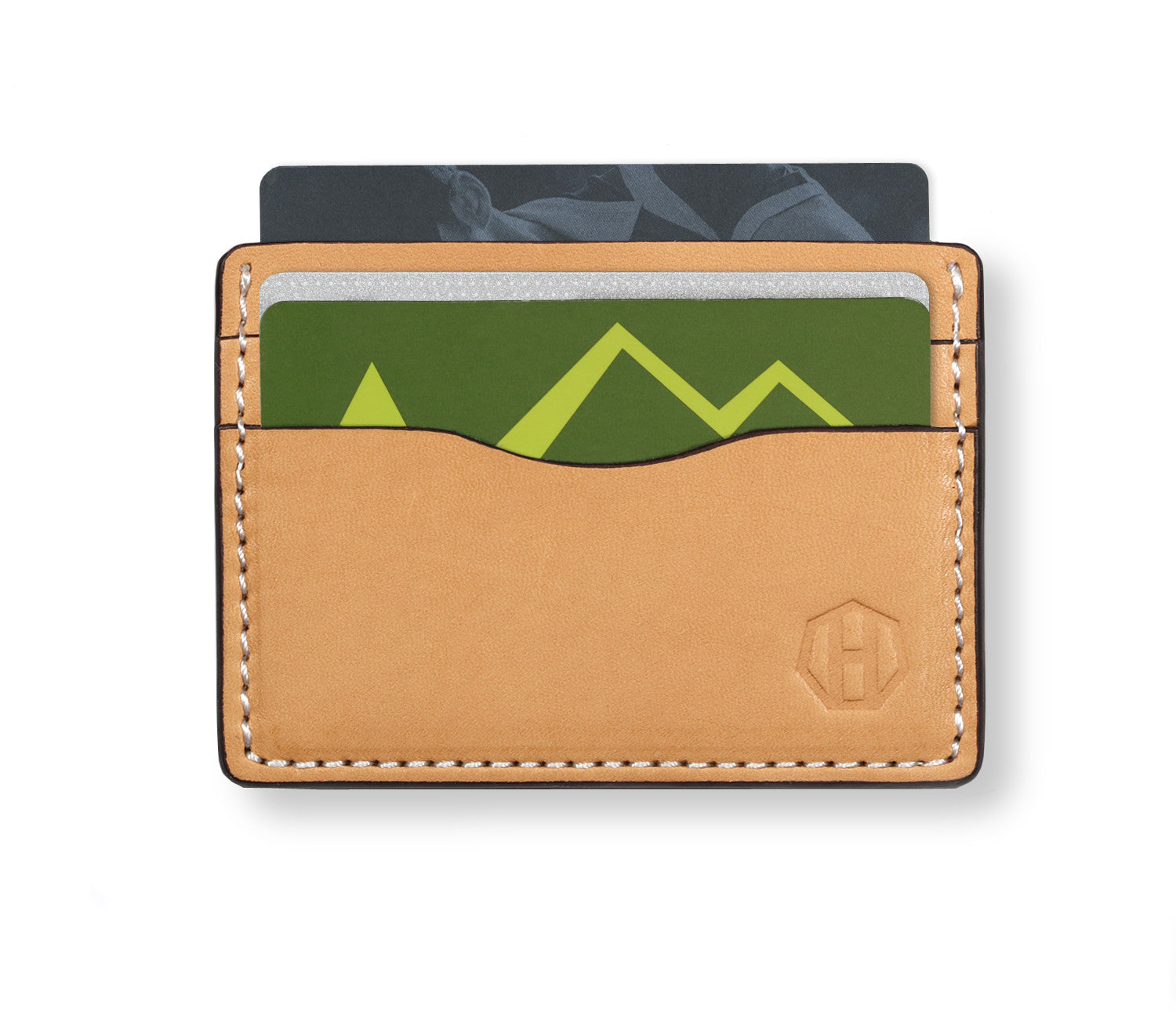 Raw Vegetable Tanned Front Pocket Card Wallet Haxford