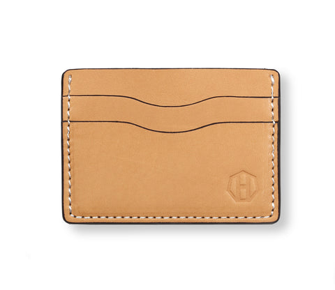 Raw Vegetable Tanned Five Pocket Card Wallet