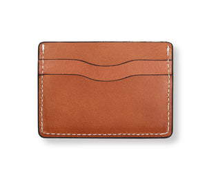 Saddle Tan Vegetable Tanned 5 Pocket Card Wallet