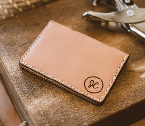 Personalized Monogram Leather Wallet