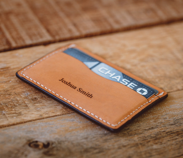 new product f4c0b 80efe Personalized 5 Pocket Leather Card Wallet