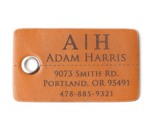 Customized Leather Luggage Tag