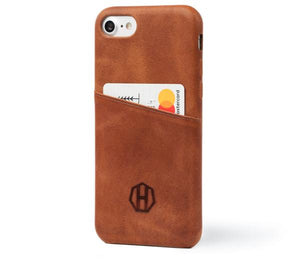 Leather iPhone Card Case / Brown