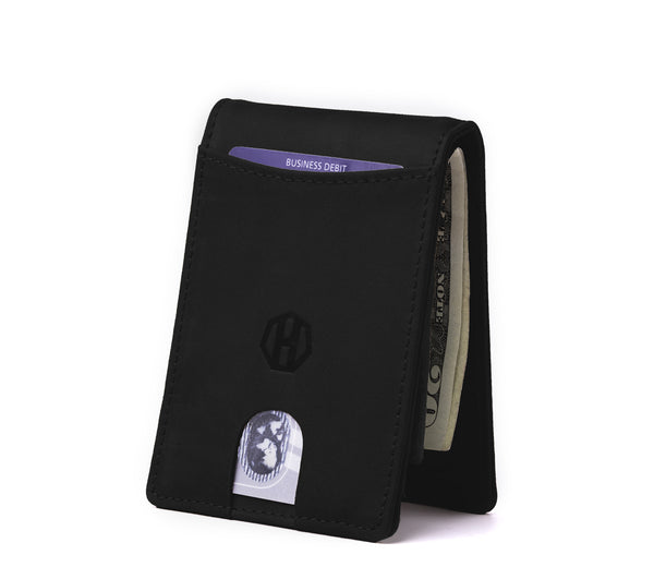 Slim Bifold Wallet Carbon Black