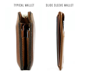 Leather Slide Sleeve RFID Wallet