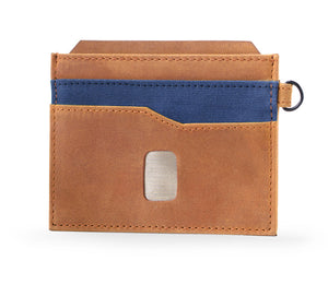 Money Clip Leather Wallet - Key Ring